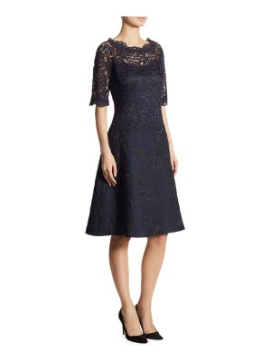 Teri Jon lace a-line dress