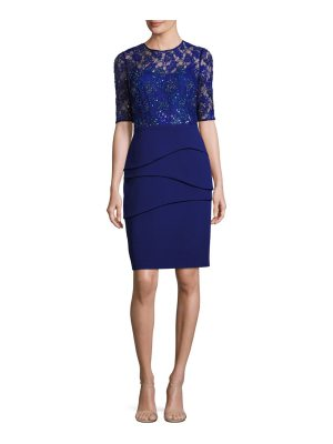 Teri Jon lace bodice sheath dress