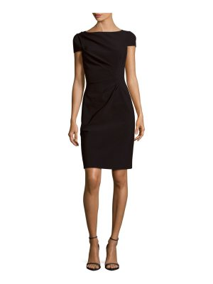 Teri Jon Solid Ruched Dress