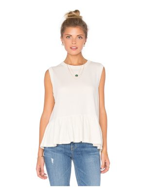 The Great Sleeveless Ruffle Tee