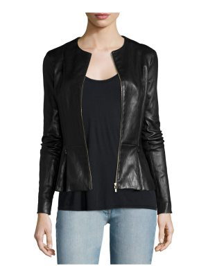 THE ROW Anasta Zip-Front Leather Jacket