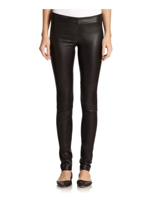 THE ROW essentials leather moto pants