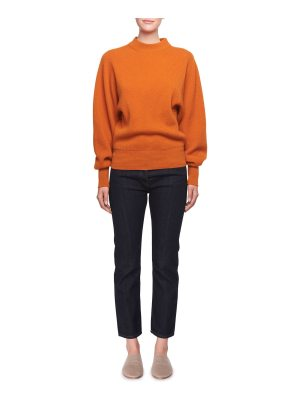 THE ROW Nix Long-Sleeve Crewneck Cashmere Pullover Sweater