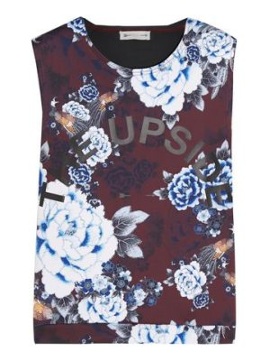 THE UPSIDE muscle floral-print scuba