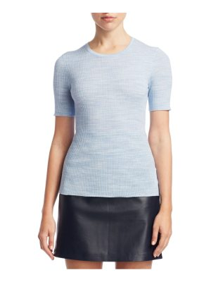 Theory fitted short sleeve sweater