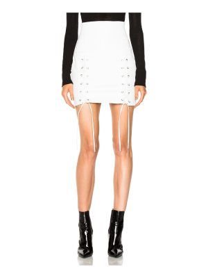ThePerfext Leyla Leather Lace Up Skirt