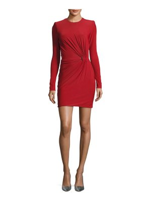 Thierry Mugler Shirred-Waist Jersey Minidress