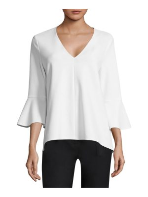 Tibi crepe bell-sleeve top