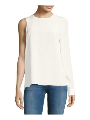 Tibi One-Sleeve Silk Top