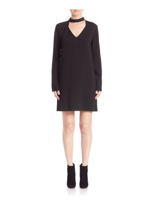 Tibi Savanna Crepe V-Neck Tie Dress