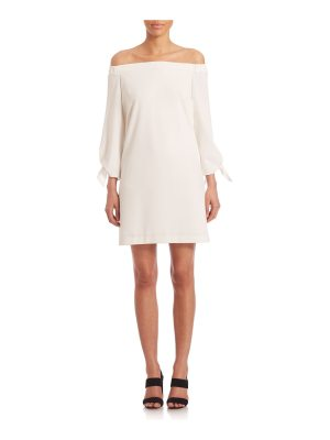 Tibi structured off-the-shoulder crepe dress