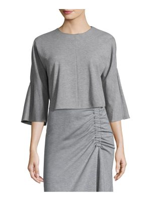 Tibi bell-sleeve crop top