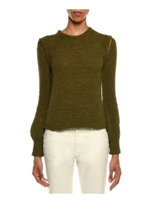 TOM FORD Crewneck Long-Sleeve Knit Sweater
