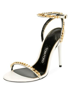 TOM FORD Curb-Chain Ankle 105mm Sandal