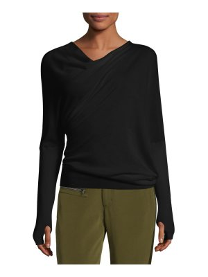 TOM FORD Draped-Front Long-Sleeve Top