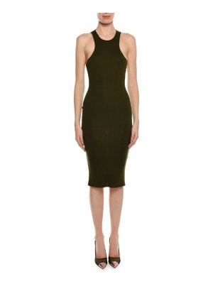 TOM FORD High-Neck Racerback Fitted Midi Dress