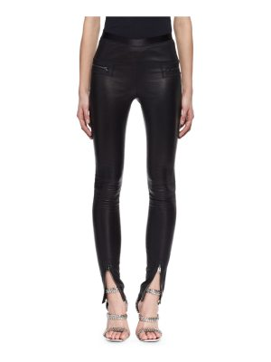 TOM FORD Leather Zip-Cuff Pants
