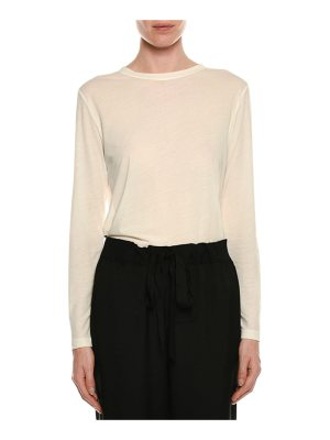 TOM FORD Long-Sleeve Round-Neck Cotton Top
