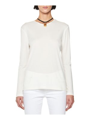 TOM FORD Long-Sleeve Tunic with Leather Padlock Embellishment