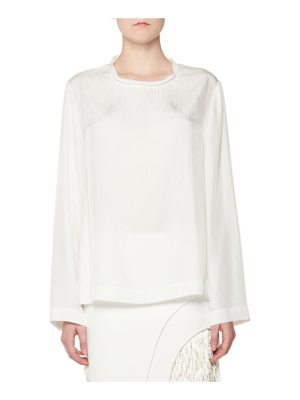 TOM FORD Twisted-Neck Oversized Long-Sleeve Tee