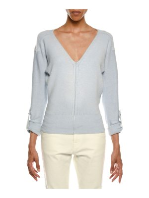 TOM FORD V-Neck Tab-Sleeve Knit Sweater