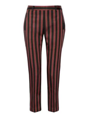 Tomas Maier striped satin-twill straight