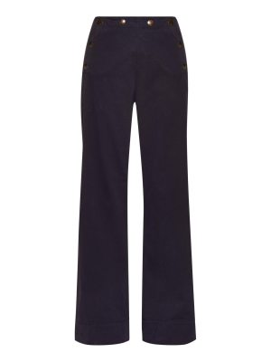 Tomas Maier Wide-leg weathered stretch-cotton trousers