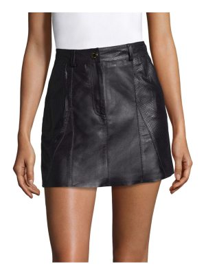 Tommy Hilfiger Collection leather mini skirt