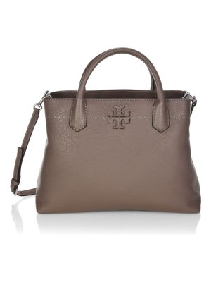 Tory Burch mcgraw leather triple-compartment tote