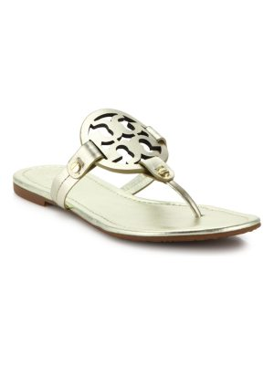 Tory Burch miller metallic leather thong sandals