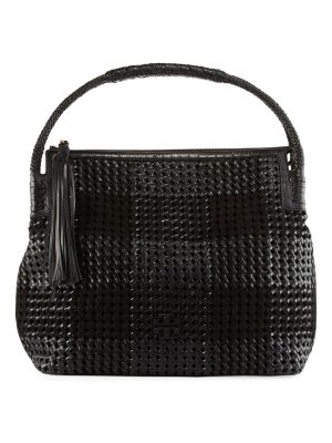 Tory Burch Taylor Woven Leather Hobo