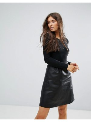 Traffic People 2-In-1 Dress With Pu Skirt