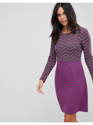 Traffic People Textured 2-In-1 Dress In Mixed Print