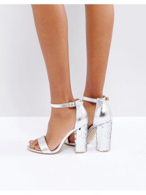 Truffle Collection Sequin Block Heel Sandal