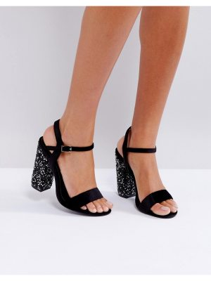 Truffle Collection Sparkle Block Heel Sandal