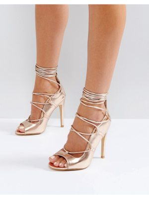 Truffle Collection Tie Up Skinny Heel Sandal