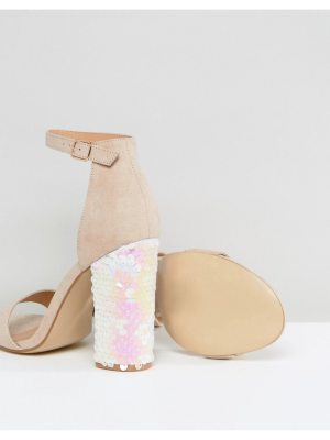 Truffle Collection Sequin Block Heel Sandals