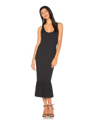 Twenty Embossed Jacquard Midi Dress