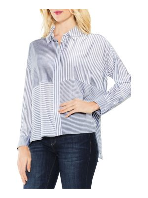 Vince Camuto two by  mix stripe button down shirt