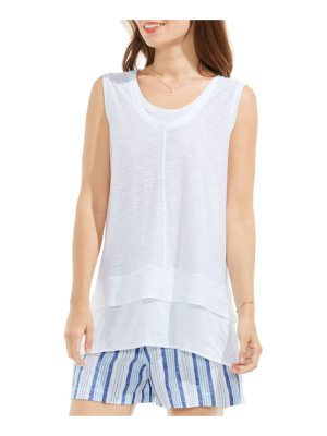 Vince Camuto two by  mixed media top