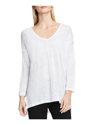 Vince Camuto two by  seam detail linen tee