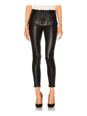Unravel Leather Lace Up Skinny Pants