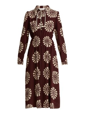 Valentino Medallion-print silk dress