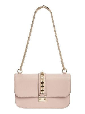 Valentino medium lock studded leather shoulder bag