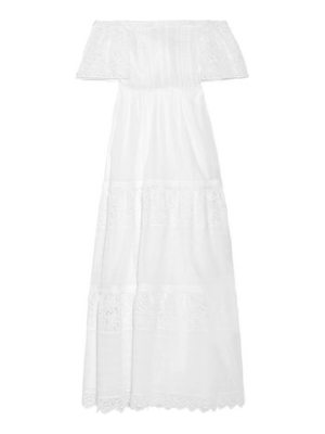 Valentino off-the-shoulder broderie anglaise cotton