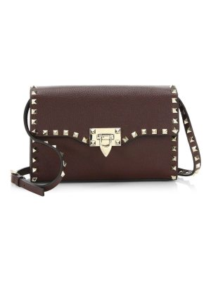 Valentino rockstud grain leather crossbody bag