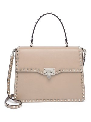 Valentino rockstud leather top-handle satchel