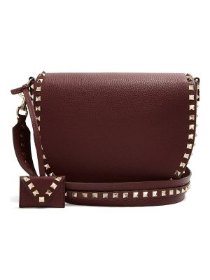 Valentino Rockstud Saddle Leather Shoulder Bag