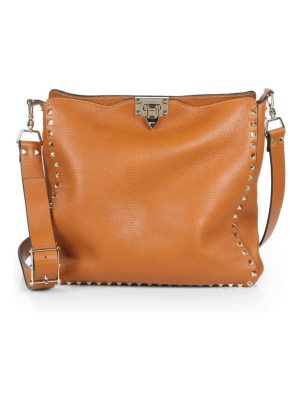 Valentino rockstud utilitarian medium leather crossbody bag
