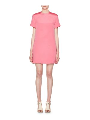 Valentino Short-Sleeve Silk Shift Dress